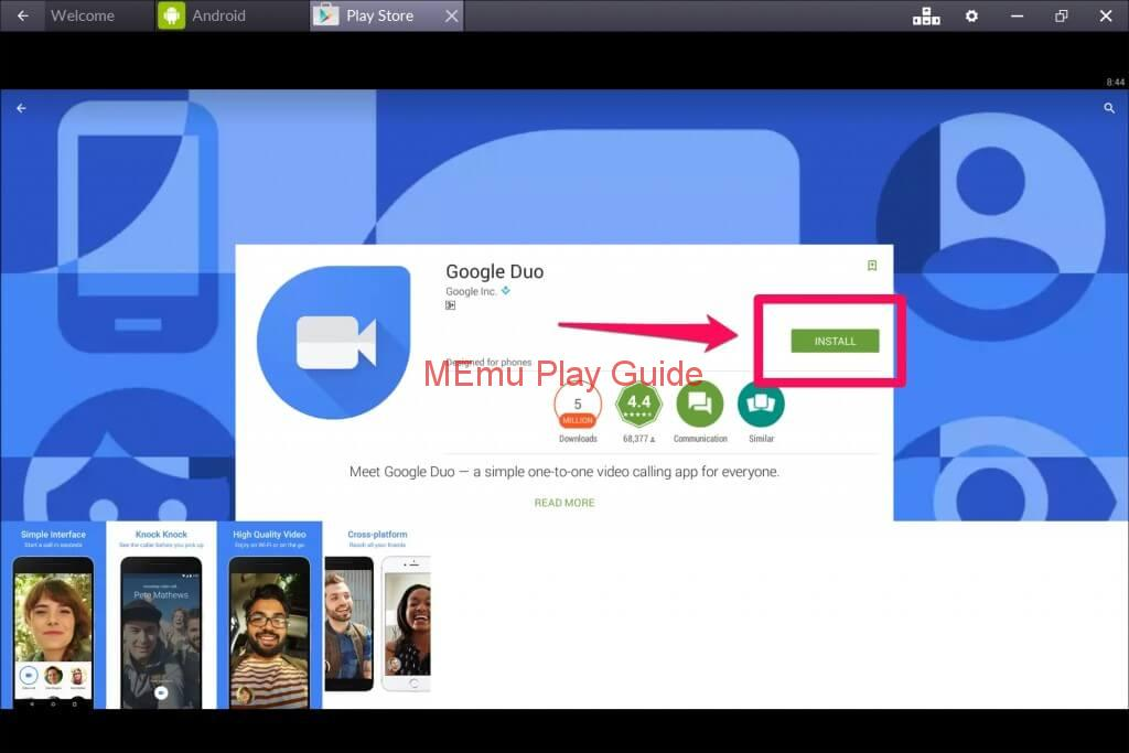Download Memu Google Duo For Pc