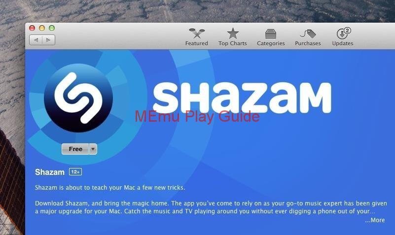 Memu Download Shazam for PC
