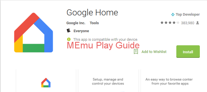 Memu Download Google Home For Windows 10